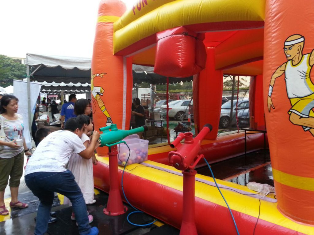Air Shooter Game with Inflatable
