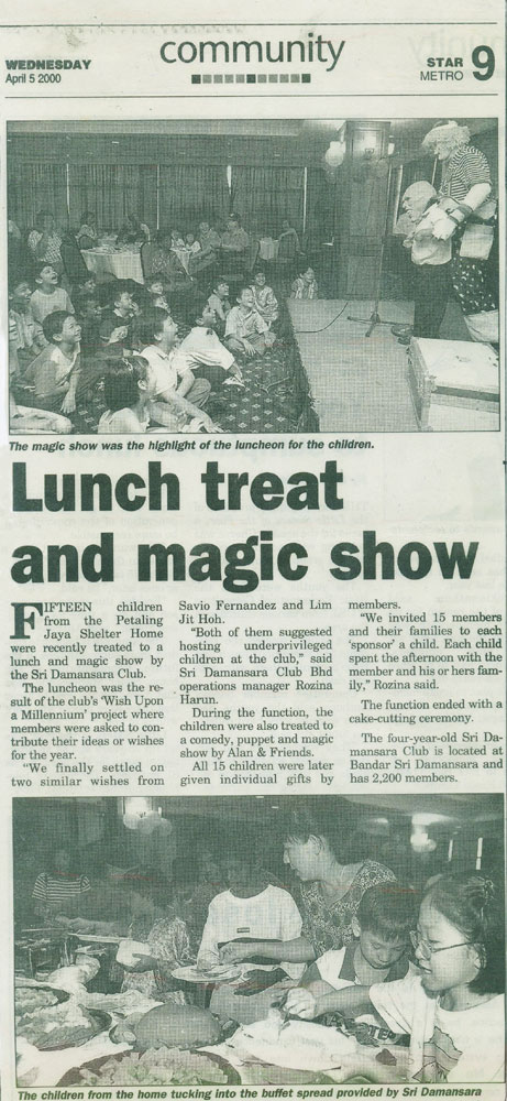 Lunch treat and magic show