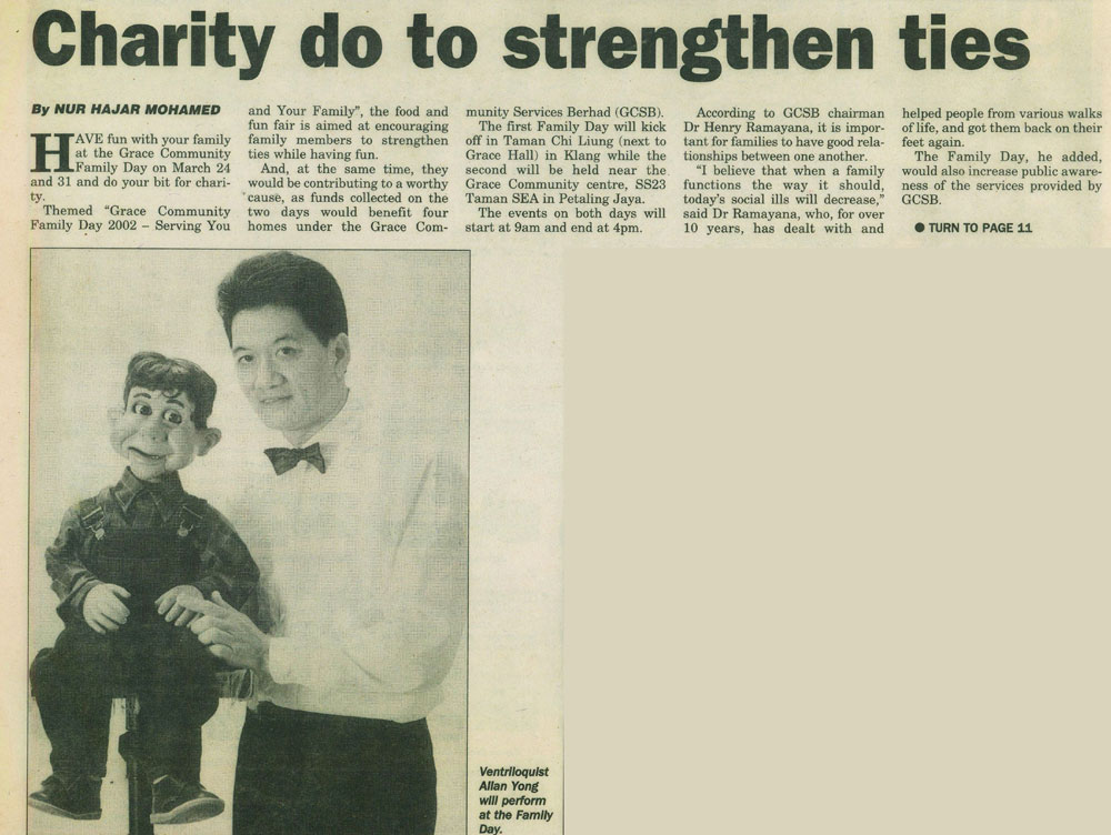Charity do to strengthen ties