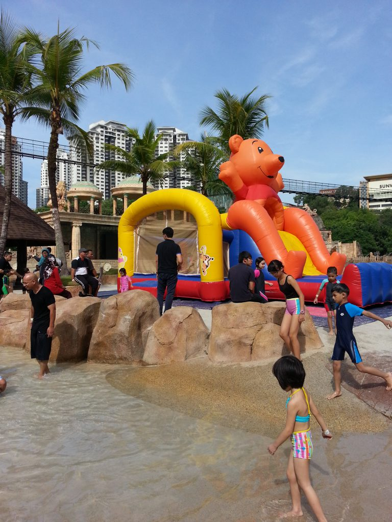 Inflatable Orange Bear Bouncer